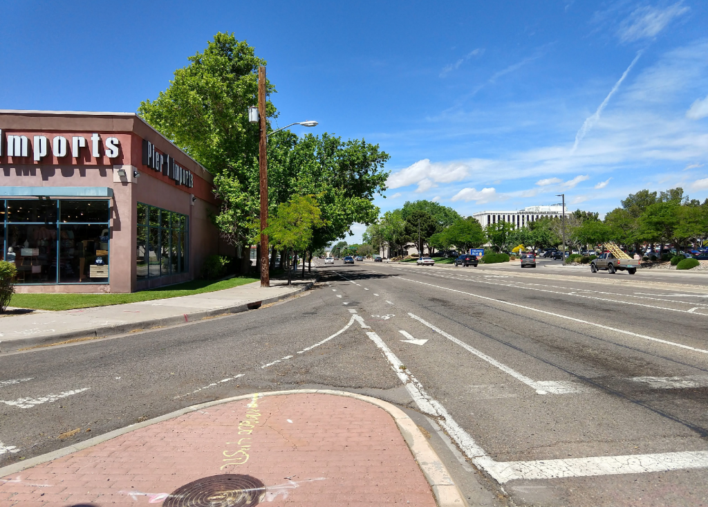 Existing conditions looking west on Indian School Boulevard
