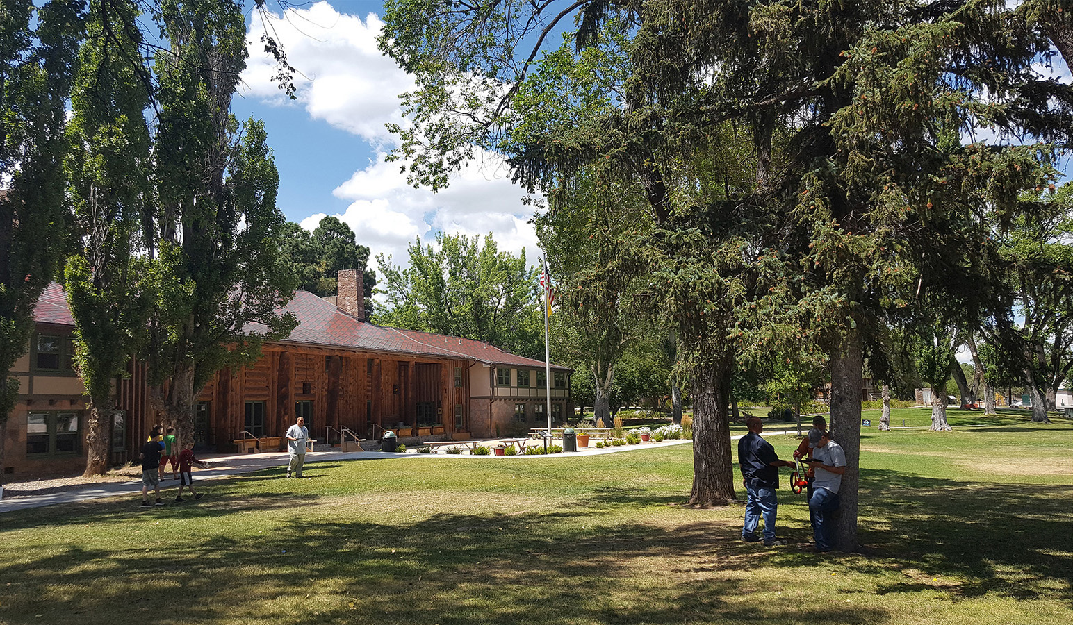 Fuller Lodge in Los Alamos as it currently appears.