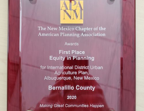International District Urban Agriculture Plan – APA-NM 2020 1st Place Award for Equity in Planning
