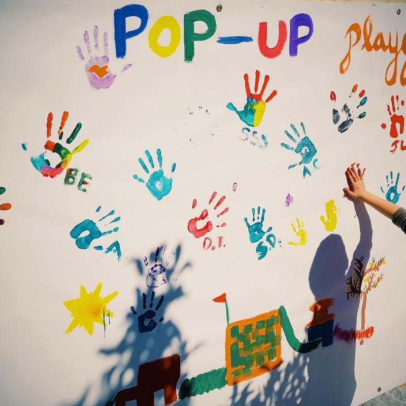 Pop Up Playgrounds Hand Paint Art