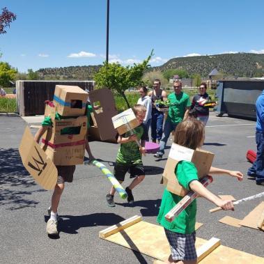 Pop Up Playgrounds Cardboard Battle