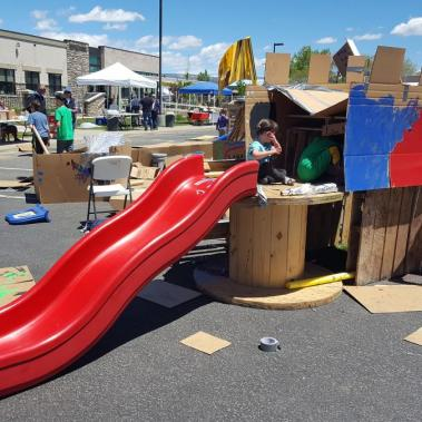 Pop Up Playgrounds Castle with Slide