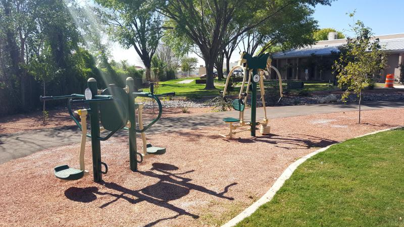 Munson Senior Center Outdoor Recreation Area Equipment At Rest