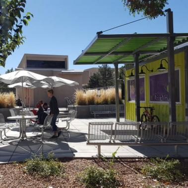 UNM Fresh Box Plaza Shade