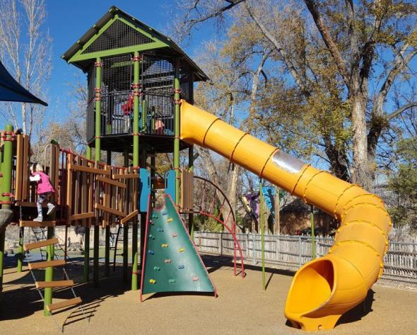 Albuquerque BioPark Zoo Playground Slide
