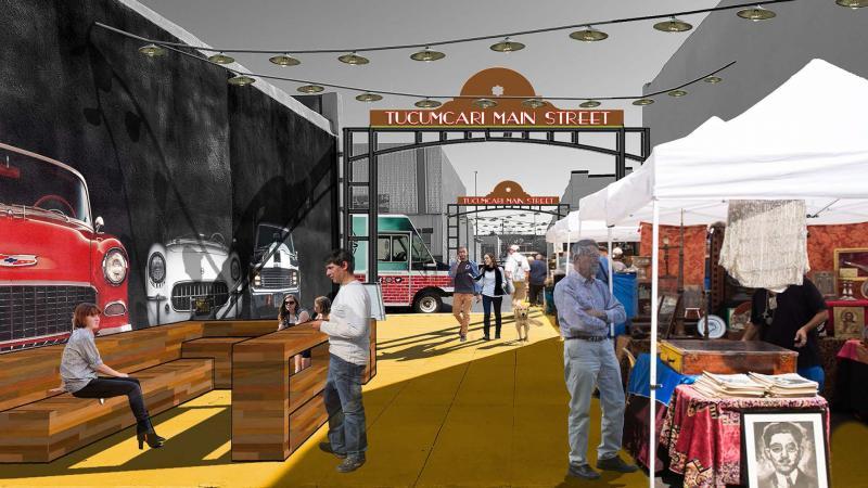 New Mexico Mainstreet Farmers Market Alley