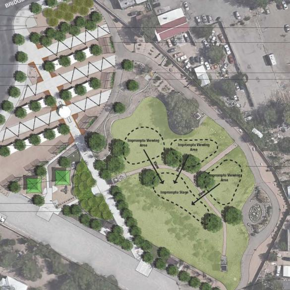 New Mexico Mainstreet Aerial Rendering