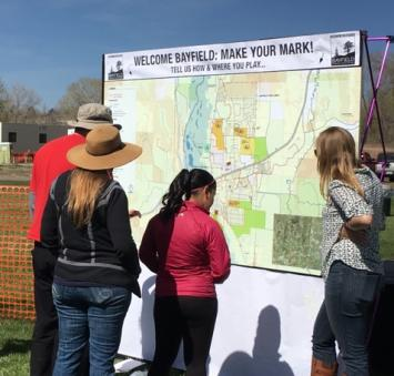 Bayfield Parks Plan Sign
