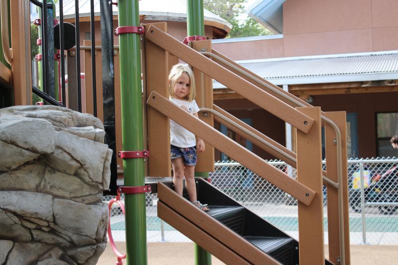 Albuquerque BioPark Zoo Playground Stairs