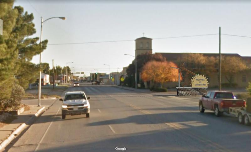 Lovington Wayfinding_Methodist Church Gateway Render_Energy Systems