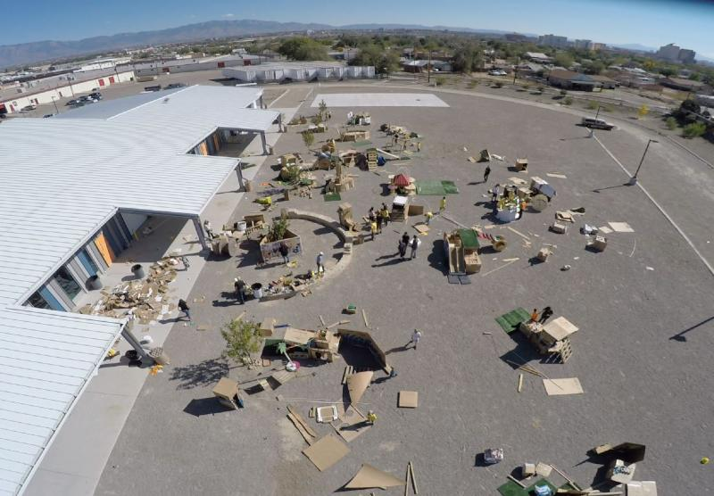 Pop Up Playgrounds Aerial View