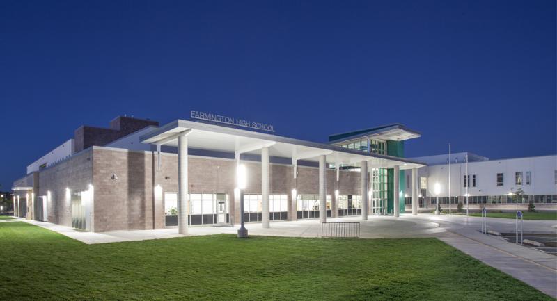 Farmington High School Exterior Building Lights