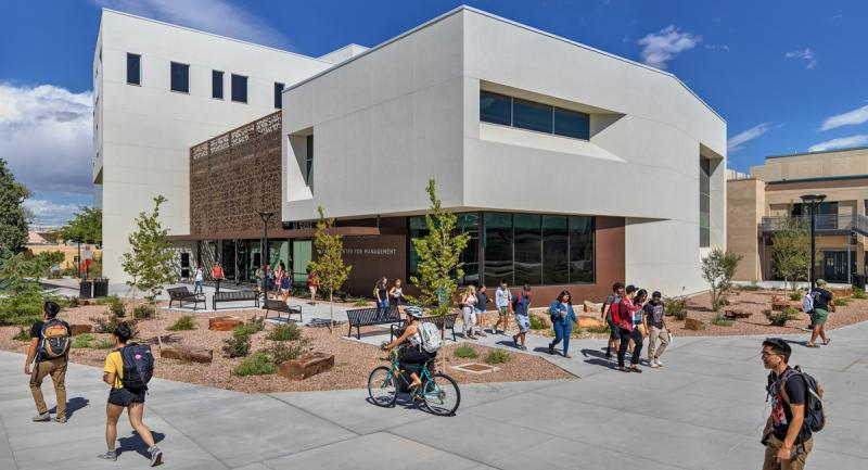 UNM Anderson School McKinnon Center for Management exterior