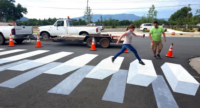 New Mexico Mainstreet 3D Crosswalk Art